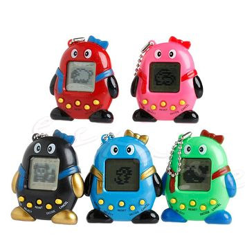 2017 NEW 168 Pets 90S Nostalgic Virtual Pet Cyber Pet Digital Pet Tamagotchi Penguins E-pet Gift Toy Handheld Game Machine