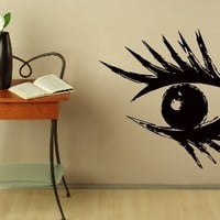 Wall Decals Hairdressing Girl Eye Beauty Salon Decal Vinyl Sticker Makeup Salon Hairstyle Design Window Decals Art Murals Chu1380