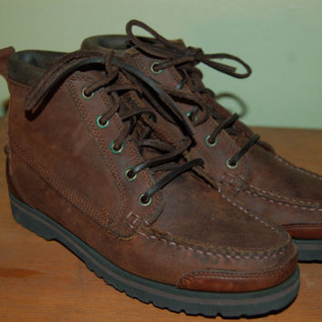 Women size 7 New American Eagle Vintage Brown Leather Hiking Boots