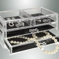 Kennedy Home Collections Acrylic Jewelry Box with 4 Drawers