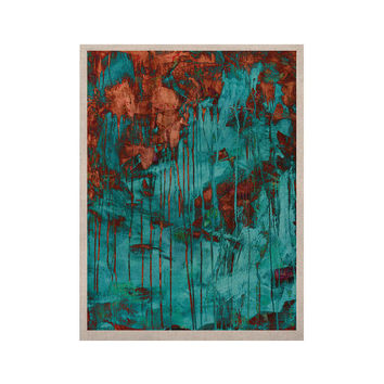 """Iris Lehnhardt """"Rusty Teal"""" Paint Teal KESS Naturals Canvas (Frame not Included)"""