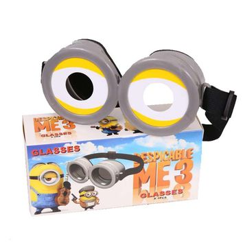 Free shipping Despicable Me Minions Cartoon 3D Glasses Child Children Adult Polarization Cosplay toy birthday gift  party