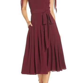 Gal Meets Glam Collection Bette Pleated Midi Dress (Nordstrom Exclusive) | Nordstrom