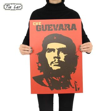 Che Guevara Character Retro Posters Advertising Nostalgic Old Bar Decorative Painting Vintage Wall Sticker 51.5X36cm
