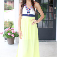 Perfect Day Maxi Dress - Yellow