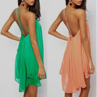Sexy Women Summer Boho Maxi Evening Party Dress Beach Dress Sundress Mini Dress = 4904732548