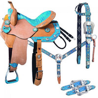 Saddles Tack Horse Supplies - ChickSaddlery.com Silver Royal Trinity 5 Piece Barrel Saddle Set <>