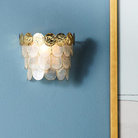Tiered Capiz Sconce