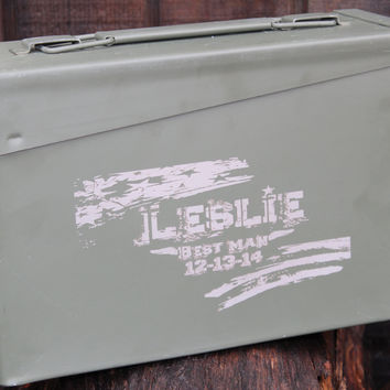 Groomsmen gifts, 30 Cal ammo can, best man gift,  groomsman ammo can,  personalized groomsmen gift,  Fathers Day gift, personalized ammo can