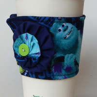 Monsters Inc Coffee Cup Cozy , Mike Wazowski Drink Sleeve , Sulley , Monster , Disney , Monsters University