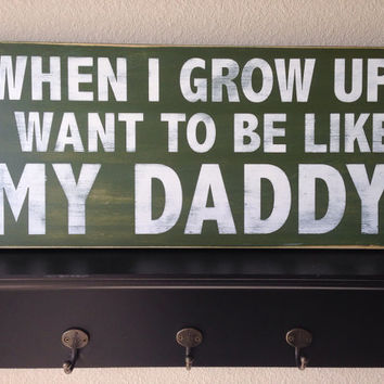 "Distressed Wood Sign - ""When I Grow Up"""
