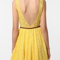 Lace Low Cut Back Dress