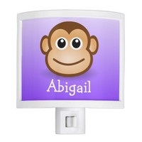 custom cute little monkey on ombre background