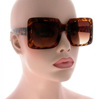 "Retro Vintage ""JACKIE"" Large Oversized XL Square Lady Women Sunglasses"