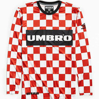 Umbro X House Of Holland Checkered Football Jersey | Urban Outfitters