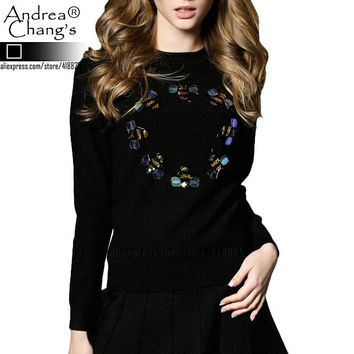 Winter and Spring ANDREA CHANG's designer Women Sweaters