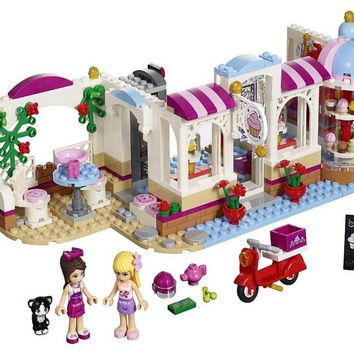New Heartlake series Cupcake Cafe fit legoings friends figures city Building Blocks Model Bricks girls diy Toy 41119 gift kids