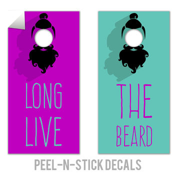 Long Live The Beard Decals