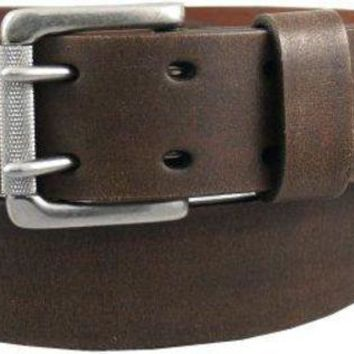 ESBTND Levi's Men's 1 9/16 in. Genuine Leather Two-Pronged Buckle Belt (With Big & Tall Sizes)