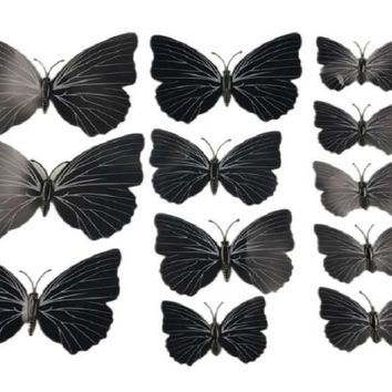 Creative 3D Butterflies PVC DIY Wall Sticker