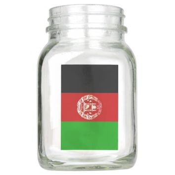 Flag of Afghanistan Mason Jar