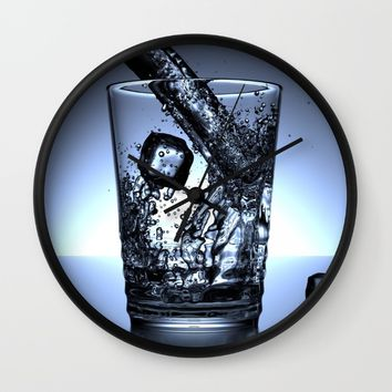 Glass of Water Wall Clock by Mixed Imagery
