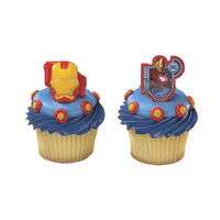 Iron Man 2 Cupcake Rings