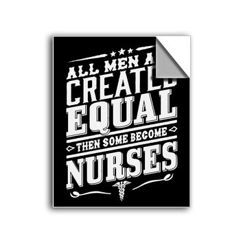 "FREE SHIPPING - ""Created Equal - Male Nurse"" Vinyl Decal Sticker (5"" tall) - Limited Time Only!"
