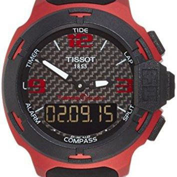Tissot T-Race Touch Aluminium Black Dial Black Silicon Mens Sports Watch T0814209720700