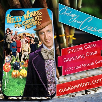 Exclusive Willy Wonka iPhone for 4 5 5c 6 Plus Case, Samsung Galaxy for S3 S4 S5 Note 3 4 Case, iPod for 4 5 Case, HtC One M7 M8
