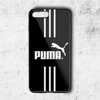 New Puma Logo White Stripe Hard Protect Case For iPhone 6 6s 7 7 Plus Cover