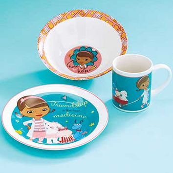 3-Pc.Doc McStuffins Disney Meal Set.  Plate, Bowl and Cup.  Holiday Gift!