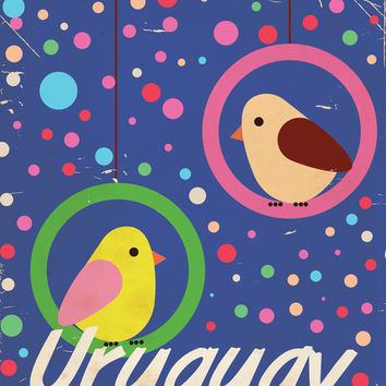 Uruguay vintage travel poster Art Print by Nick's Emporium | Society6
