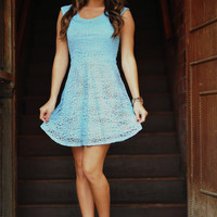 RESTOCK: Free To Flirt Dress: Blue | Hope's