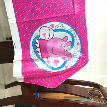 108cm*180cm Lovely Pink pig theme tablecloth flag 1pack for favor kids girls birthday party decoration supplies tablecloth