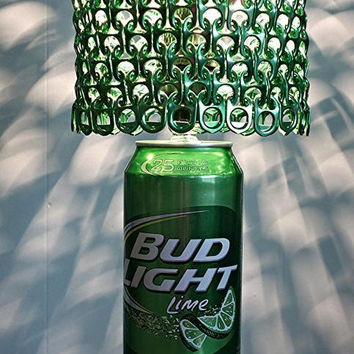 Giant 24 oz Bud Light Lime Beer Can Lamp With Pull Tab Lampshade - You've Got the Green Light