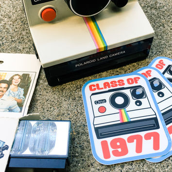 Class of 1977 Instant Film Camera Sticker
