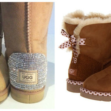 Swarovski Crystal Embellished UGG Mini Bailey Bow - Winter/Holiday 2013 Christmas