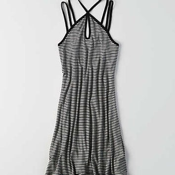 AEO Keyhole Strappy Dress, True Black