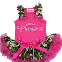Newborn Baby Pettiskirt Set- Camo Princess  Infant Tutu - New Born Baby Tutu Set - Baby Shower Gifts -