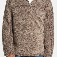 Men's True Grit 'Frosty' Tipped Pile Half Zip Pullover