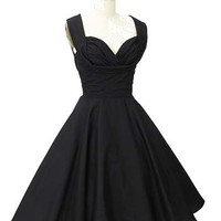 Blue Velvet Vintage - Retro Clothing - Trashy Diva Clothing - 1950s Style Black Swing Dress