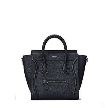celine medium luggage phanton bag in baby grained calfskin (black)