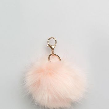 New Look Blush Pom Pom Keyring