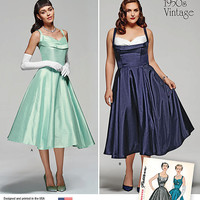 Gorgeous Retro Dress Pattern, New Simplicity 1155 Pattern, Vintage Dress Pattern, Prom Dress Pattern, Plus Size Dress, Maid of Honor Dress