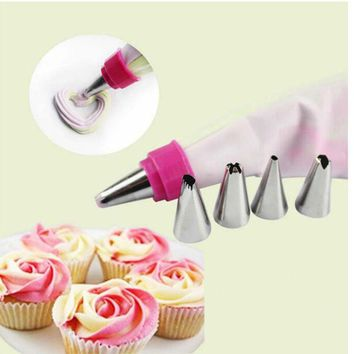 DCCKL72 1 PCS Cake Decorating Icing Piping Nozzles Pastry Tips Stainless Steel Cookie Cream Presser Sugarcraft Decorating tips