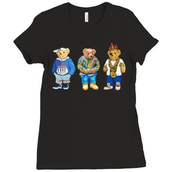 polo bear Ladies Fitted T-Shirt