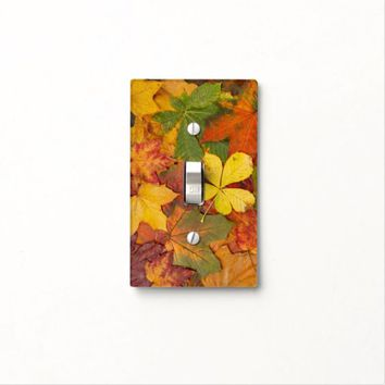 Fall Leaves Single Toggle Light Switch Cover