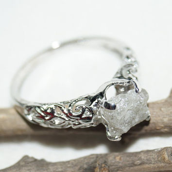 diamond floral natural media leaf rings leaves ring engagement gold