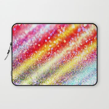 glitter stripes Laptop Sleeve by Haroulita